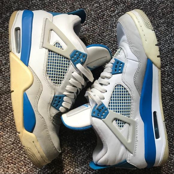 size 40 ac4d0 ba346 nike air jordan 4 military blue